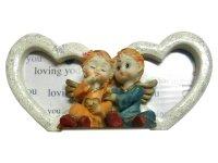 8048 Рамка для фотографий из керамики ( ангелочки с подсветкой ) 9х13