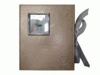 8111-1 Альбом с обложкой из светлого кожзаменителя трех оттенков на 160 фото