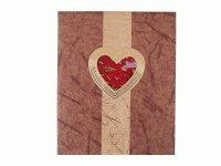 6030 Альбом с обл.золото/серебро с розами внутри сердца (16*25) на 20 магнитных листов