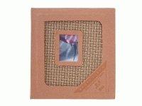 9150 Альбом с теснением и  плетеным переплетом на 20 магнитных листов (16х22)