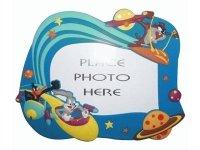 """F 12 Рамка для фотографий """"Дисней"""" из полирезины 10х15 заяц и волк в космосе(2сорт)"""