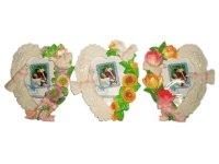 26510 Рамка для фотографий из керамики ( голуби, сердце ) 10х15