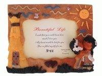 004 Рамка для фотографий из керамики ( индейцы )  10х15
