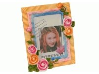463706В Рамка для фотографий из керамики ( с цветами ) 10х15