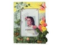 463775 Рамка для фотографий из керамики ( с цветами ) 10х15