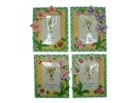 463939 Рамка для фотографий из керамики ( цветы на фоне зеленого бамбука ) 10х15