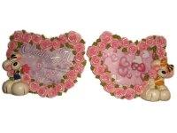 8052 Рамка для фотографий из керамики ( мышь и сердце из роз ) 6х9