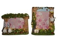 8076 Рамка для фотографий из керамики ( ежики ) 10х15