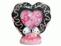 8079С Рамка для фотографий из керамики ( сердце из шоколада со сливками ) 9х13