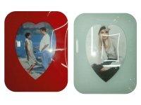 HQ 9004 Рамка для фотографий из стекла ( сердце ) вертикальная 10х15