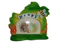 3095 Рамка для фотографий с фигурками ( медведь и пчела с музыкой и движением ) 10х15