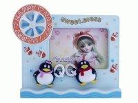 646 Рамка для фотографий с фигурками ( пингвины с музыкой и движением ) 10х15