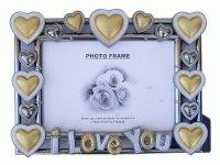 9902 Рамка для фотографий с фигурками ( сердце ) 13х18 (2 сорт)