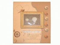 2026 Альбом с ракушкой на обложке (на 120 фото) с пластиковыми кармашками