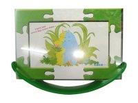 ST 320 Рамка для фотографий из двух стекол с качающейся подставкой ( пазлы 5 цветов ) 10х15