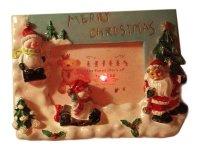 SD 006/SD 007 Рамка для фотографий из керамики ( дед Мороз со снеговичками ) 6х9