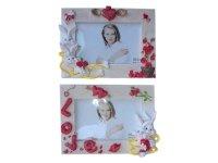 H468515 Рамка для фотографий из керамики (зайцы)