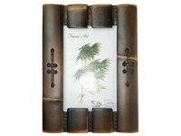 2073-15х21 Рамка для фотографий из  бамбука  ( двойная )